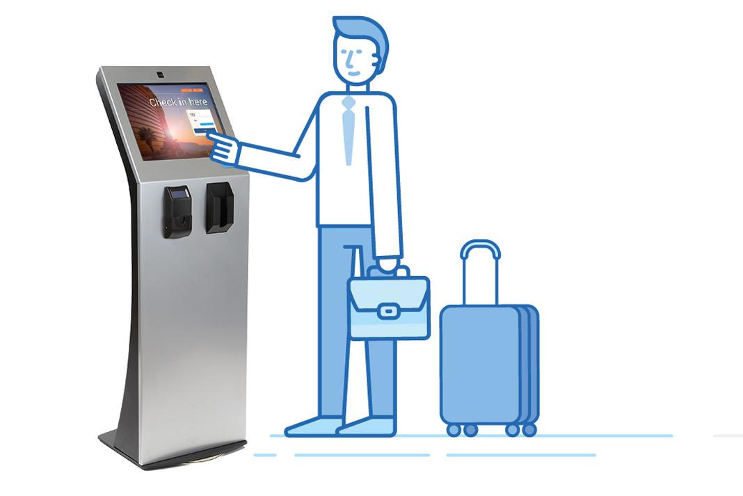 Image result for kiosk desk