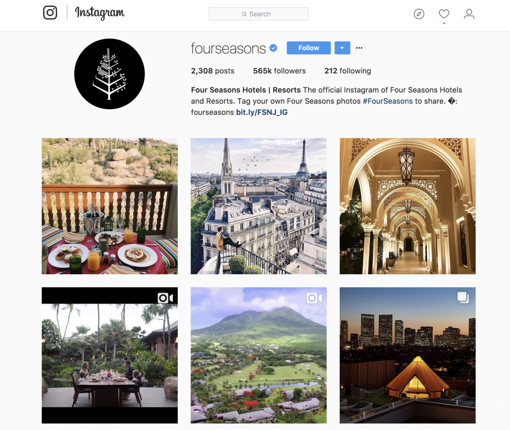 Four Seasons Instagram