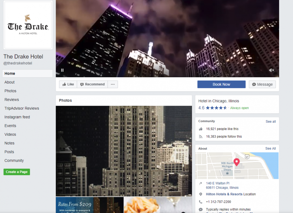 The Drake Hotel Facebook