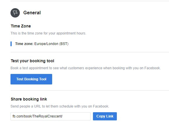 Facebook Hotel Appointments